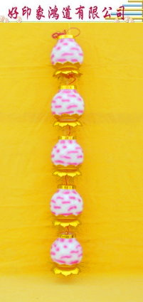 8寸蓮花塑串燈.粉紅色