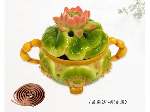 彩色蓮花盤香爐(2H、4H香環用)