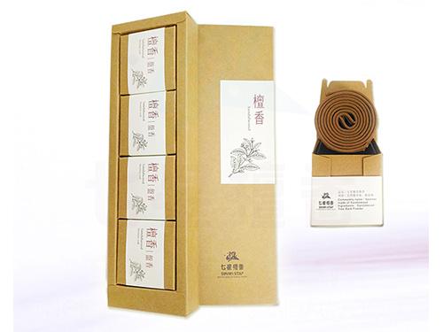 檀香盤香精裝禮盒(4小盒入)