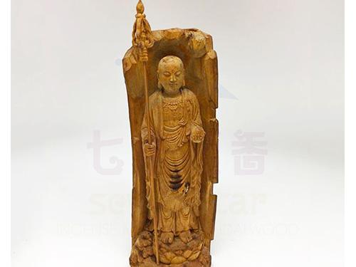 沉香老件小件雕刻 「地藏王菩薩」有緣歡迎詢問