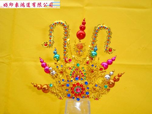柳絲束冠(金、銀)五寸六神尊用