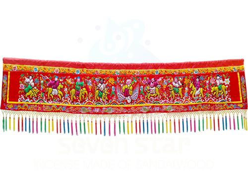 8尺(包蔥)八仙彩凸繡
