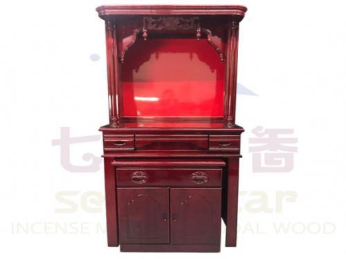 二尺九(紅木板)實木佛櫥 含上玻璃