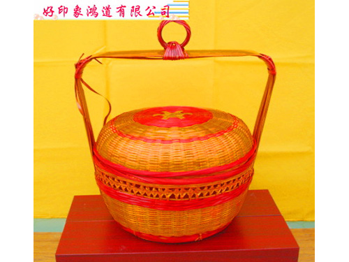 36cm竹製謝籃