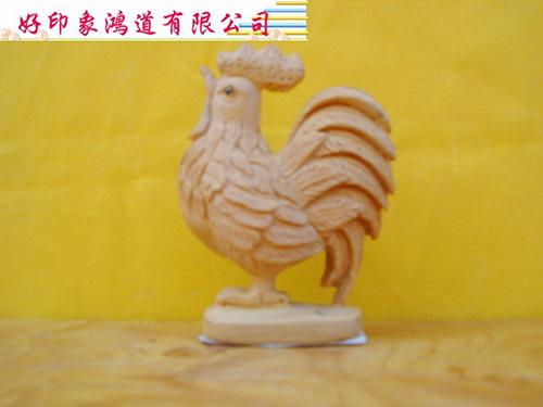 木雕十二生肖(雞)