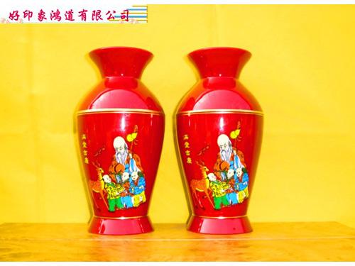 中塑膠花瓶6.7寸/對