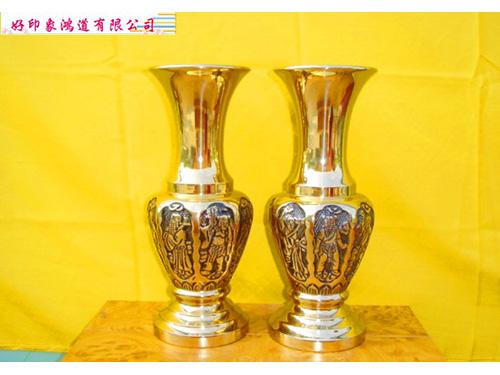 八仙花瓶1尺3/對