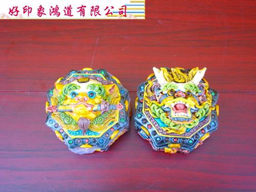 印泥盒-龍頭彩/組