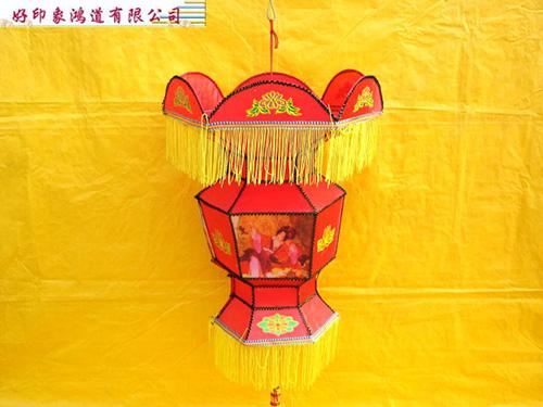 特殊燈籠-紅色-六角布